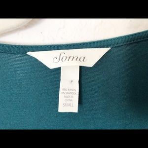 Soma Dresses - Teal Soma Soft Long Sleeve Small Dress